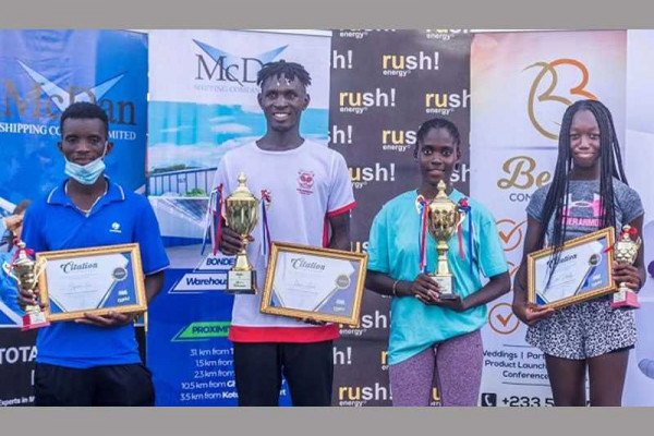 Acquah, Ibrahim are McDan tennis champions
